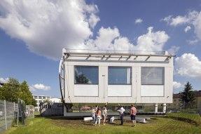 Das Labor für transparente Gebäudehüllen RoLABS auf dem Campus der Technischen Hochschule Rosenheim