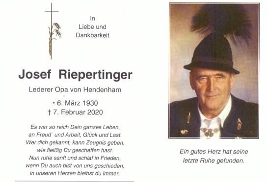 Sterbefoto Josef Riepertinger