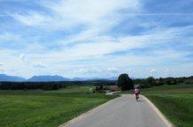 leere Straße bei Eschenau
