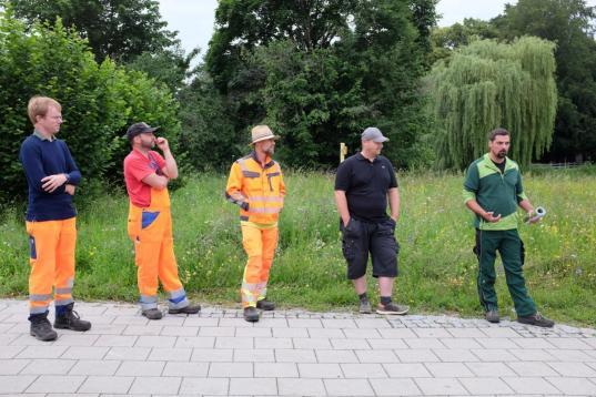 Andreas Arnold (rechts) mit Tipps und Tricks für seine Berufskollegen © I. Prankl