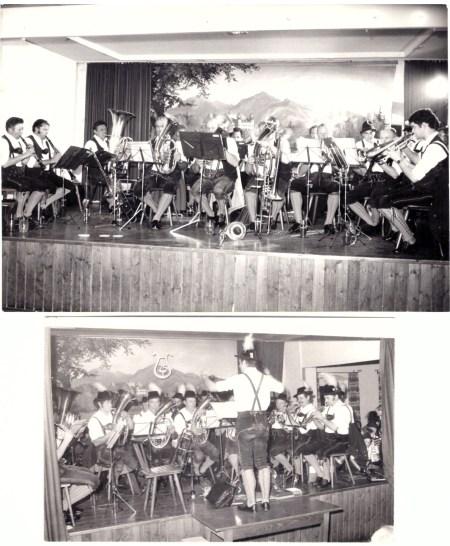 1980 Jubiläumskonzert (25 Jahre) und etwas später Konzert (Fotos Berger)