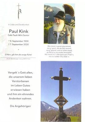 1Sterbefoto Paul Kink