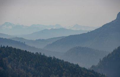Alpenszenerie beim Abstieg