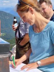 Martina,Gipfelbuch von Michi Gaukler (18)