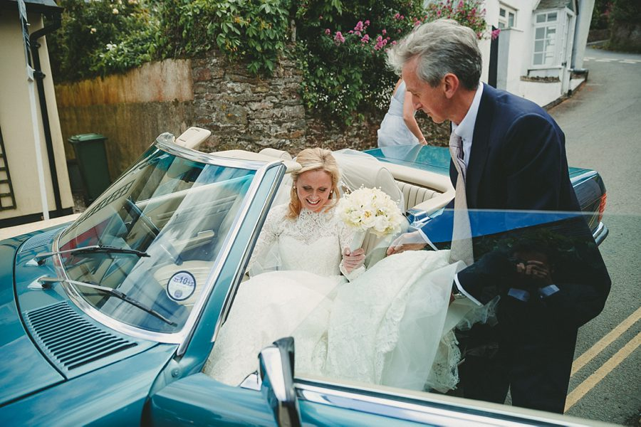 mercedes wedding car in devon