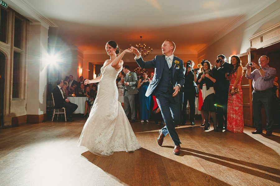 wedding first dance at great tythe barn