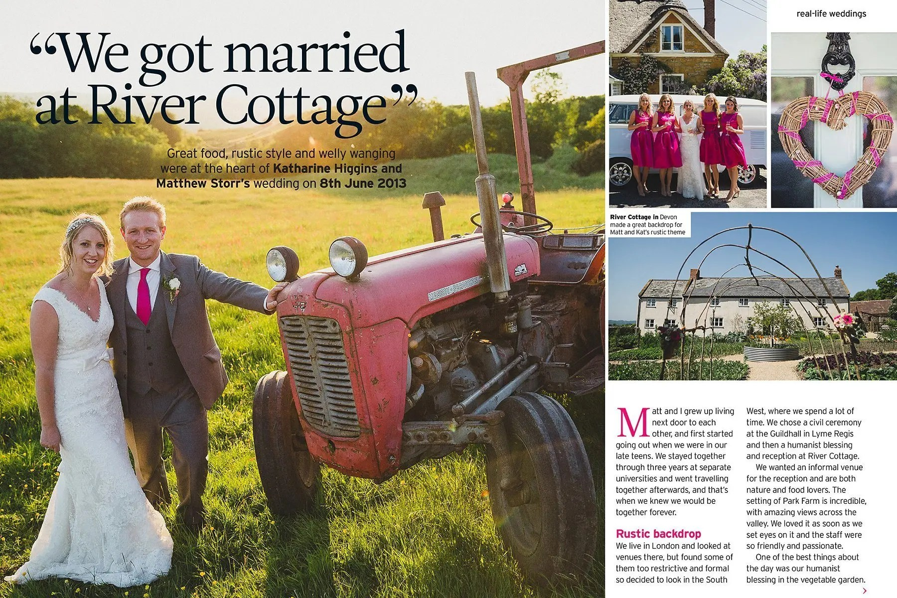 Perfect Wedding river cottage feature