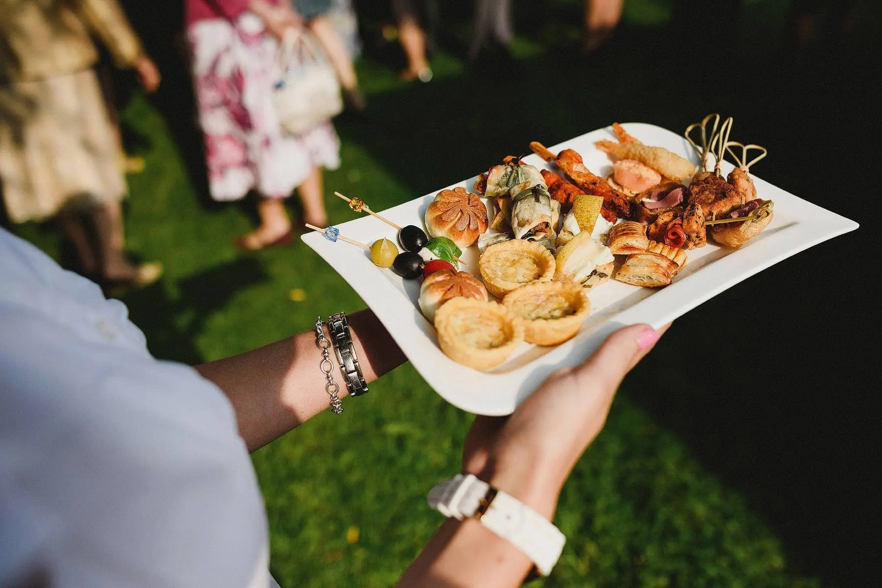 wedding canapes photo