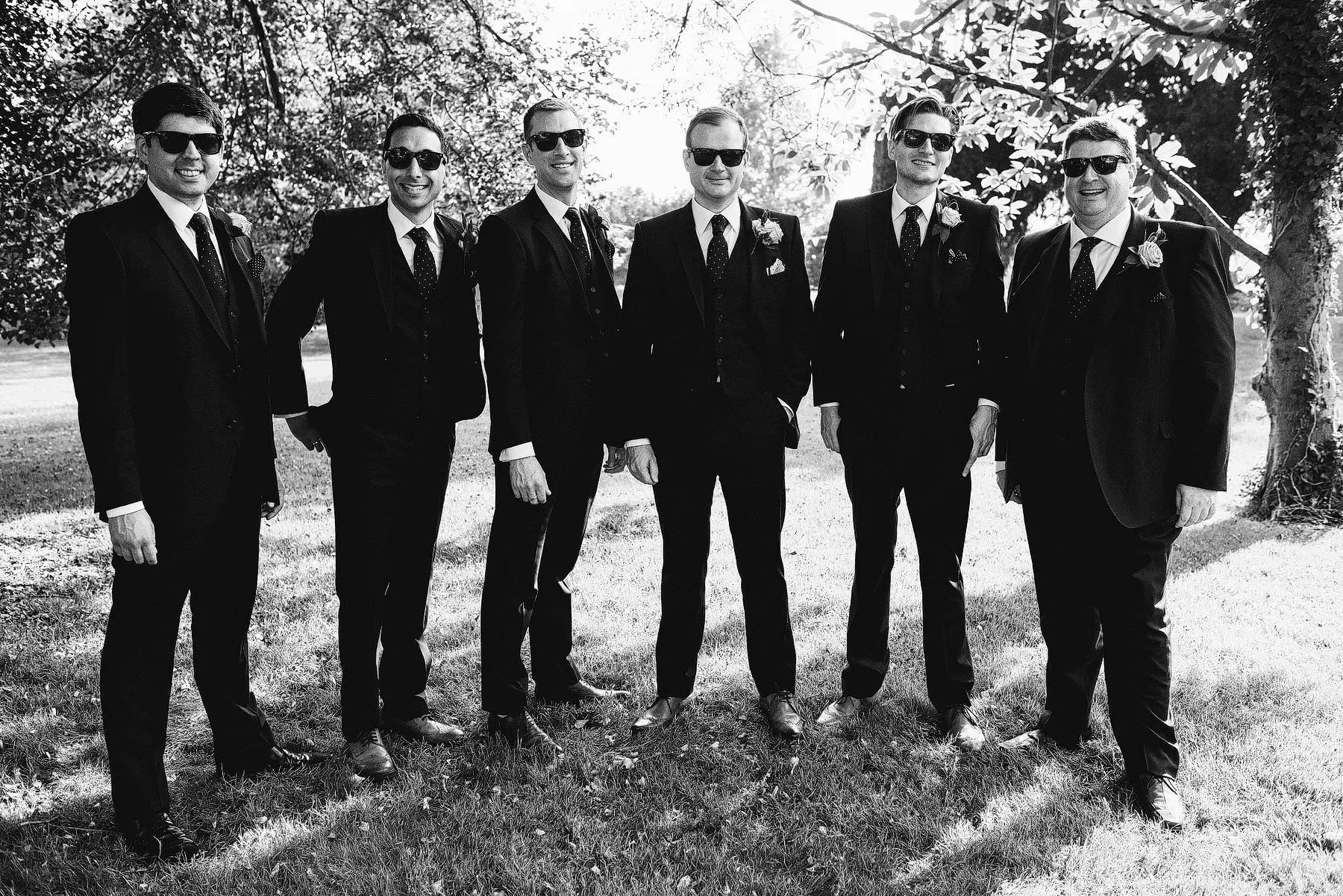 guys looking cool at a wedding
