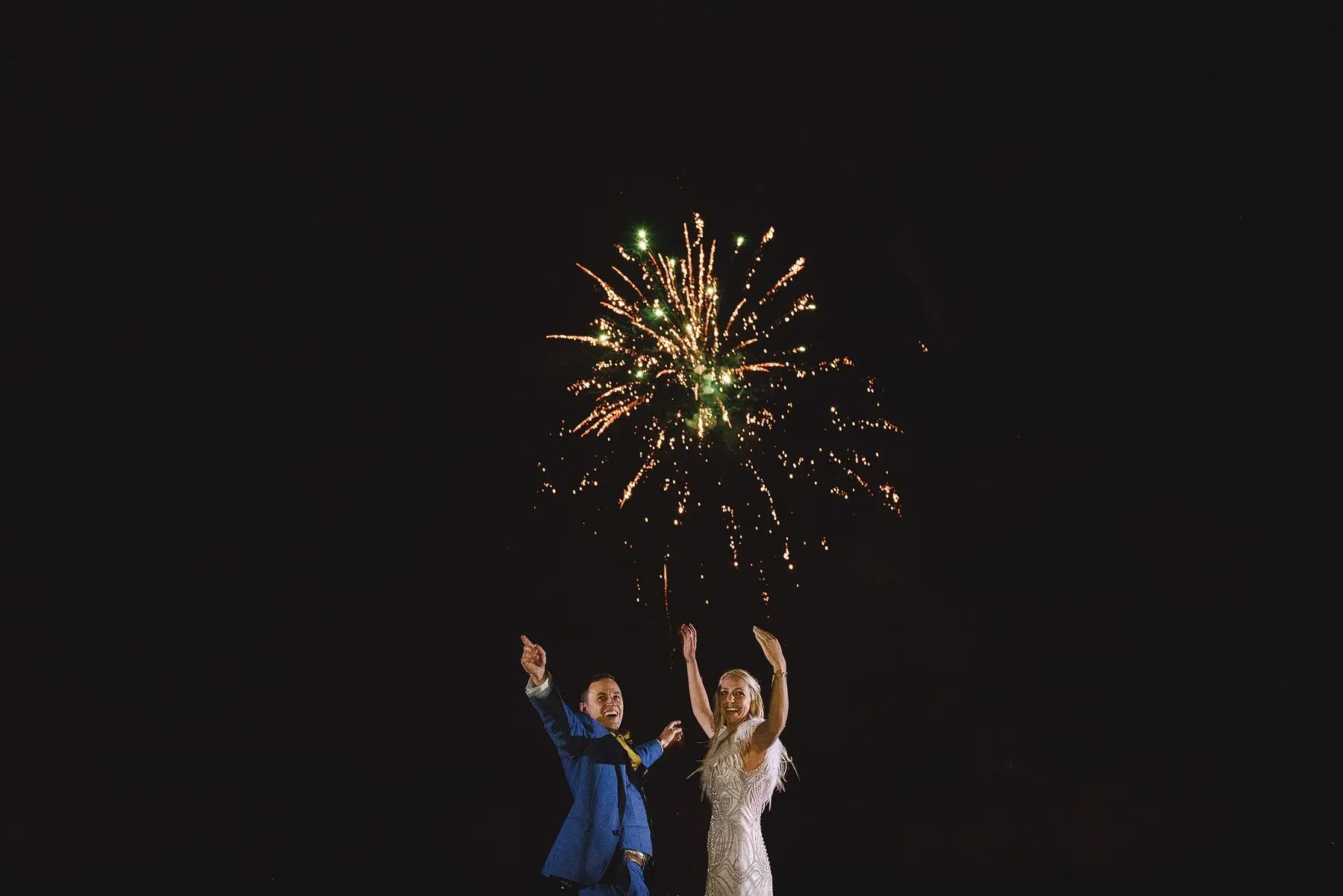 amazing fireworks at a uk wedding
