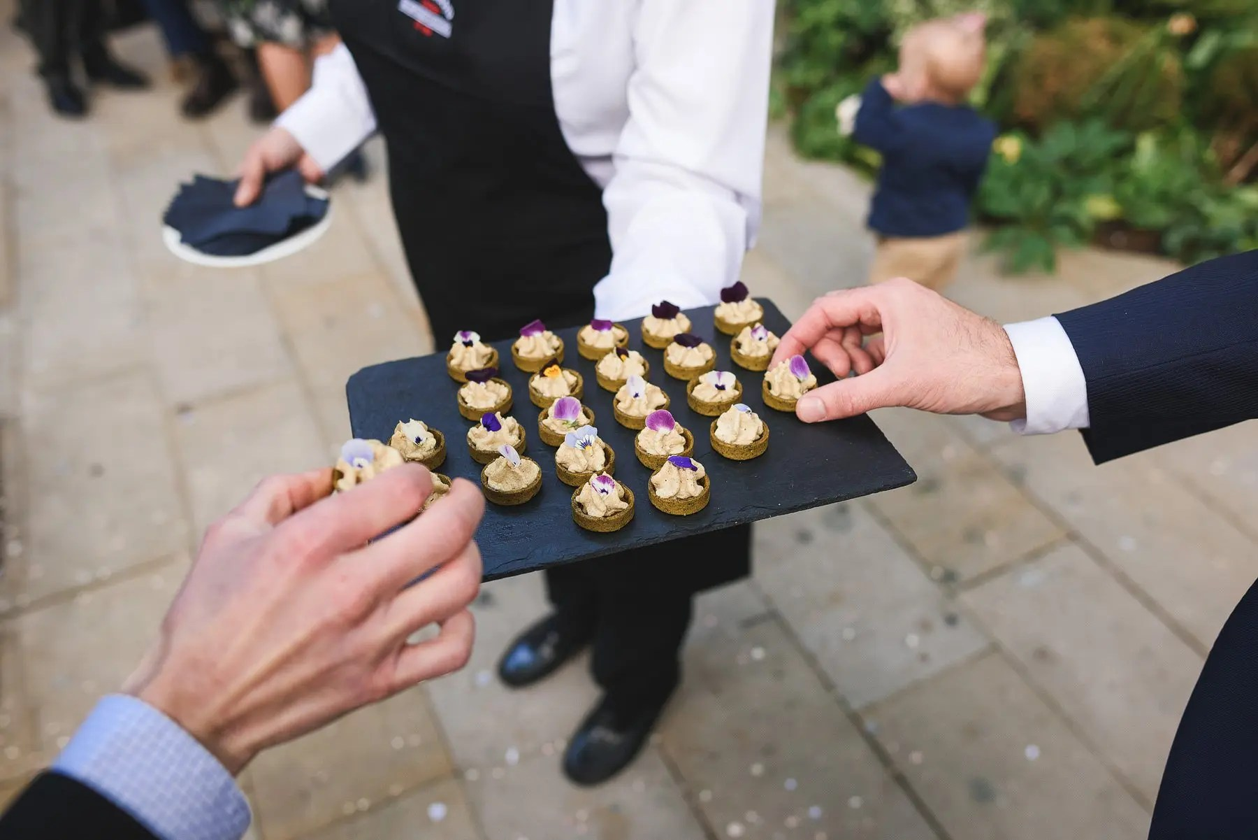 wedding canapes at stationers hall london