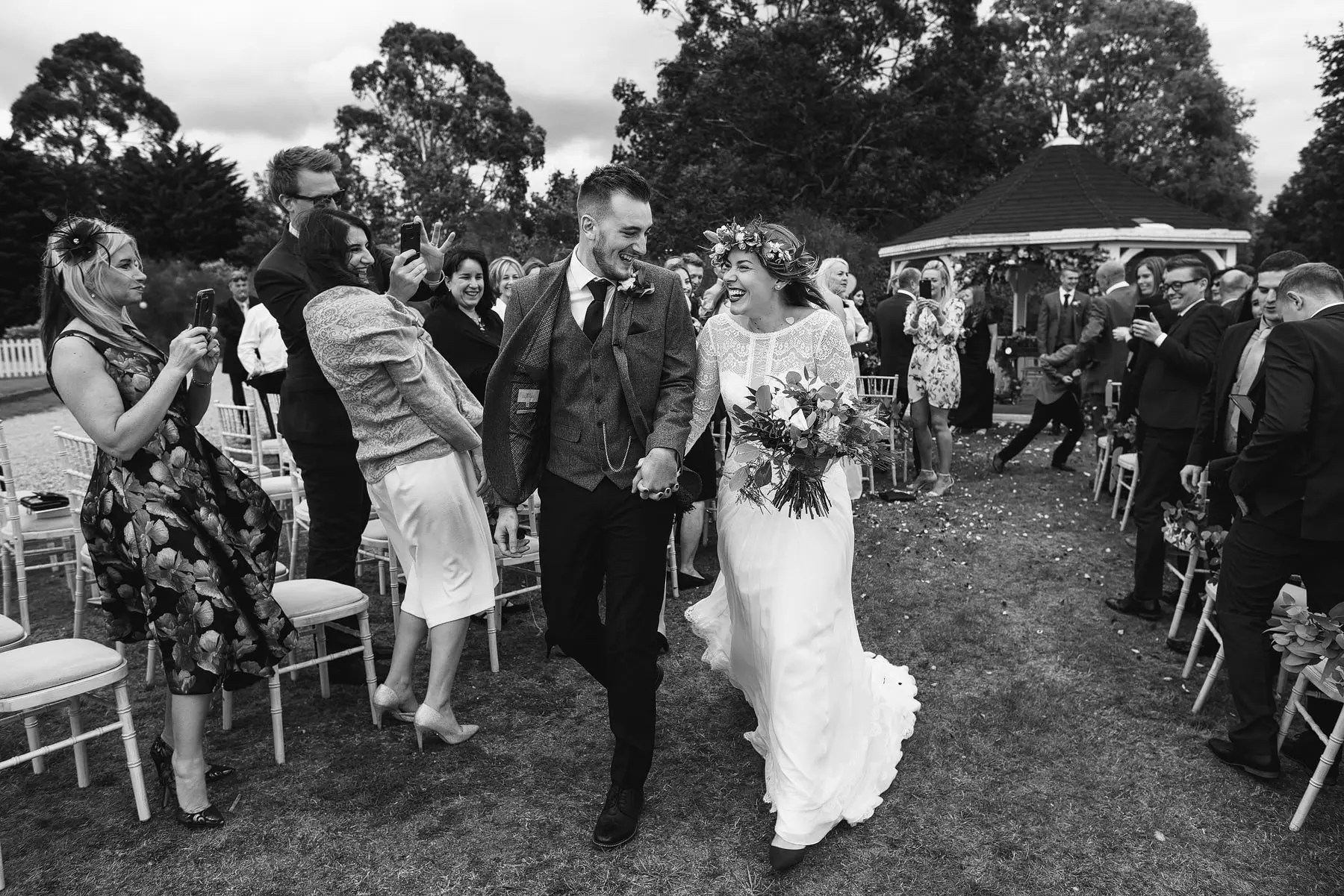 outdoor wedding at osea island