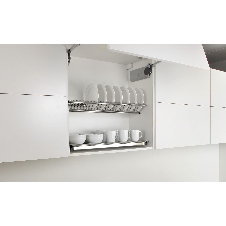 sdr0190 900mm kitchen cabinet dish rack drainer dryer plate cup rak dapur stainless steel