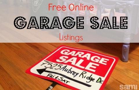 Online Garage Sale Listings  Sami Cone  Family Budget Tips Money Saving Ideas Christian
