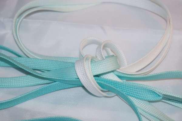 saminette.fr photos de lacets de couleurs bleu turquoise