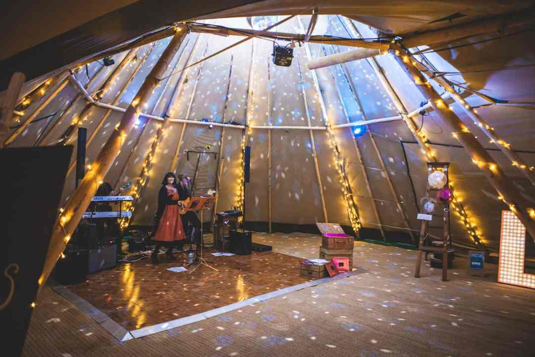 Magical Tipi Fairy Lights & Disco Ball - Sami Tipi Starlight Social captured by Christopher Terry