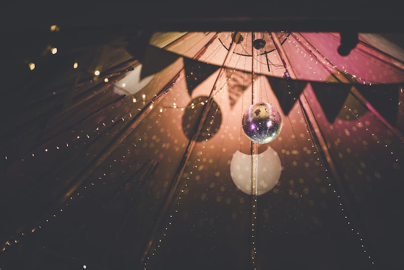 Disco Ball and Fairy Lights | Available to hire for your Sami Tipi Event