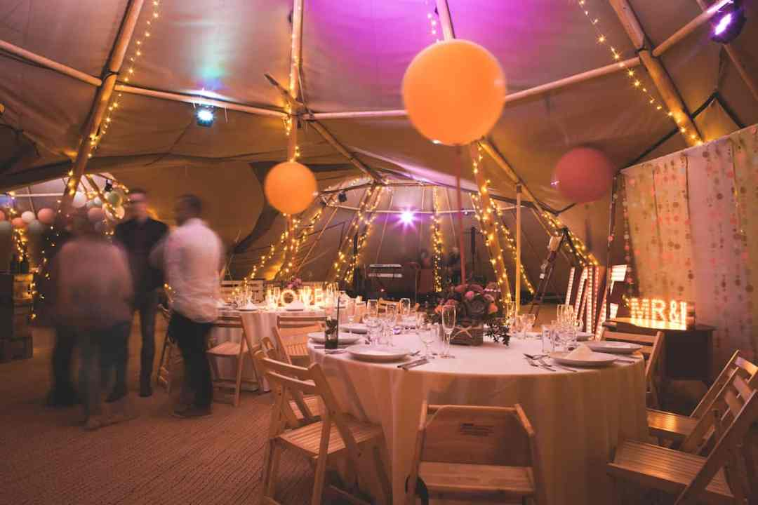 Tipi Internal by night - Sami Tipi Starlight Social captured by Christopher Terry