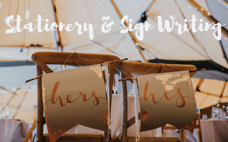Stationery, Modern Calligraphy & Sign writing