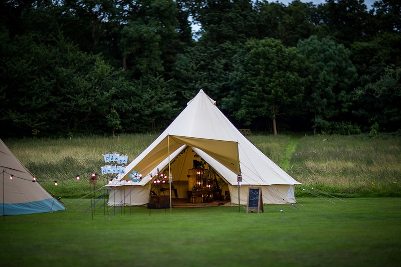 The Bell Tent Booth 3