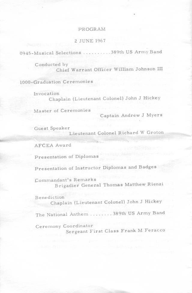 Monmouth Graduation Ceremony Program