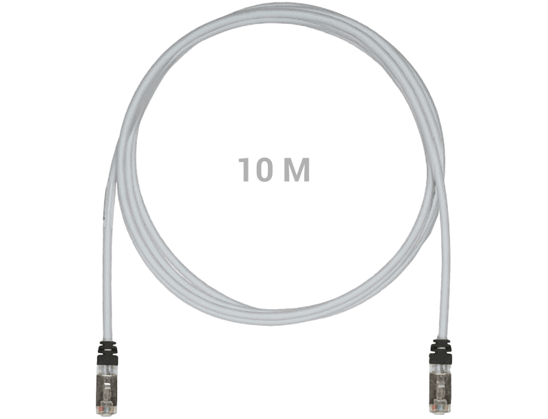 STP6x10MIG Shielded Patch Cable Cat6A 10Gig S/FTP 10m
