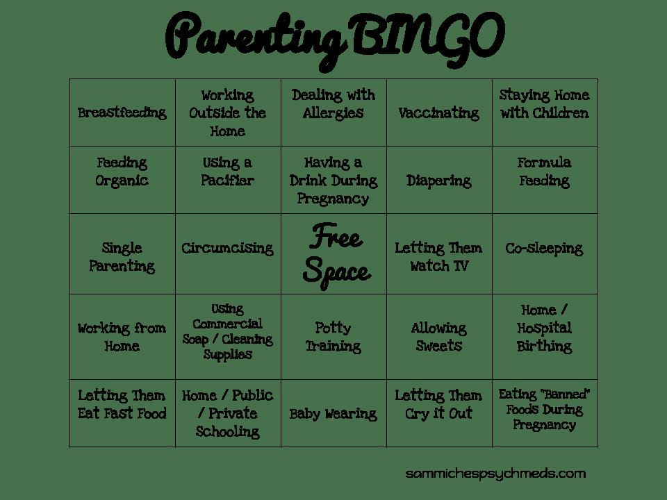 parenting bingo