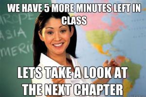 unhelpful teacher meme 5 minutes
