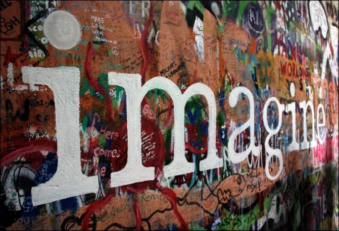 John Lennon Wall, Prague by Rossophonic on Flickr