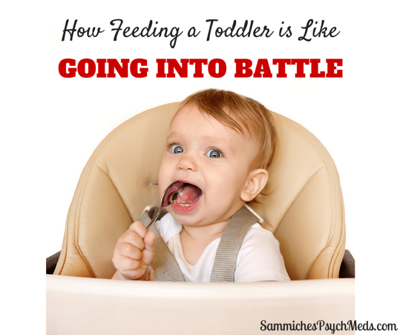 Feeding a toddler is super fun. If you like hostage negotiations, that is.