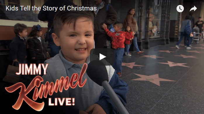 Kids Tell Hilariously Adorable Stories of Christmas on Jimmy Kimmel Live