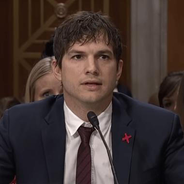 Ashton Kutcher speaking to senate about sex trafficking