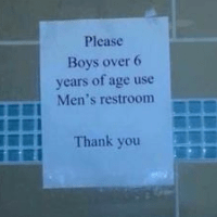 No, My Child Will NOT Be Going in a Public Restroom Alone