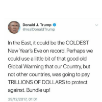 Twitter's Best Responses to Trump's Insanely Stupid Global Warming Tweet