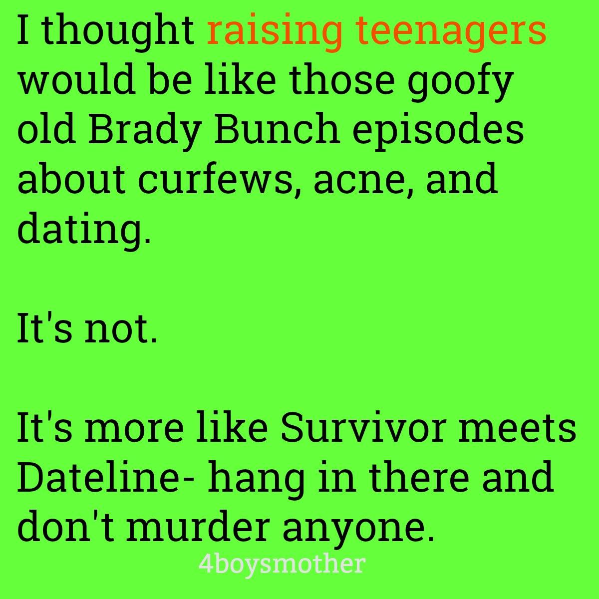 dating tips for teens and parents without children meme