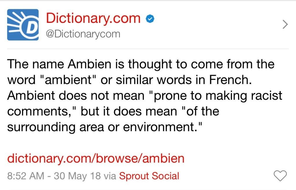 Dictionary.com Tweet
