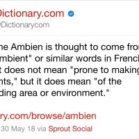 Ambien Rejects Roseanne's Blame, Dictionary.com Has Alternate Theory