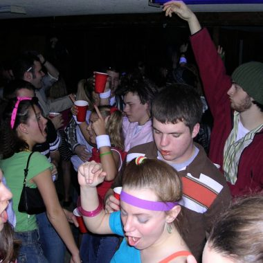 Frat parties are actually pretty good preparation for parenthood. There's a lot of nakedness, the house is trashed, and it seems that no one knows how to aim their pee in the toilet.