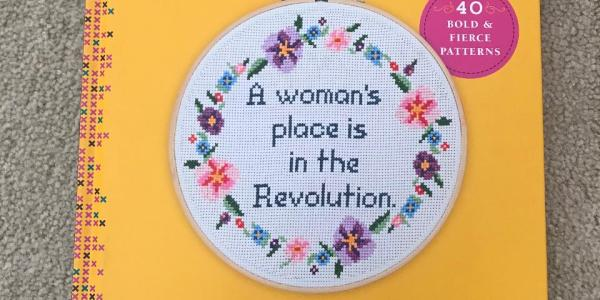 'Feminist Cross-Stitch' Book from Amazon Defaced with MAGA Sentiments