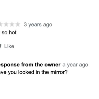 Each of the 1-star reviews has a response from the owner that are more than just a little eyebrow raising.