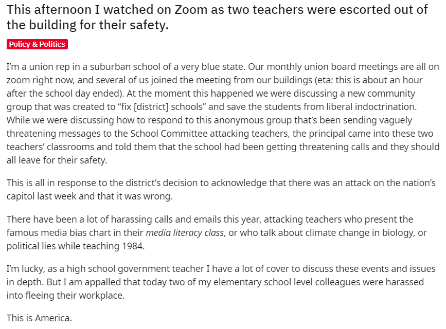teachers removed from classroom for safety