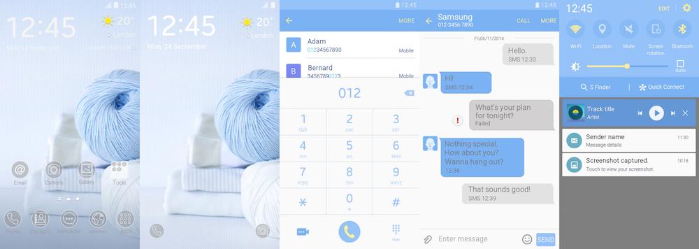 Samsung Galaxy Theme - [WoOS_Design] Baby Blue
