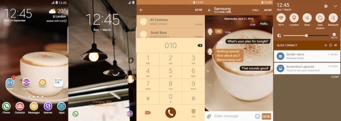Samsung Galaxy Theme - Cappuccino