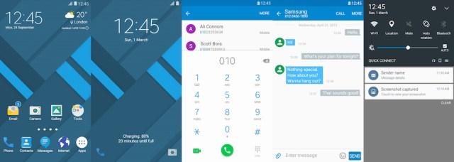 Samsung Galaxy Theme - Material Blue