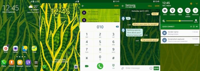 Samsung Galaxy Theme - Sansevieria