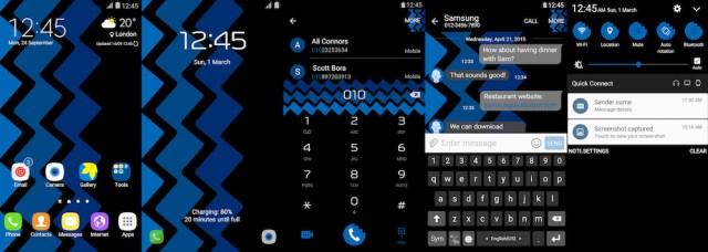 Samsung Galaxy Theme - [Walk On Mars] Triple ZigZag - Paid
