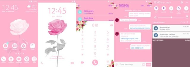 Samsung Galaxy Theme - Rose