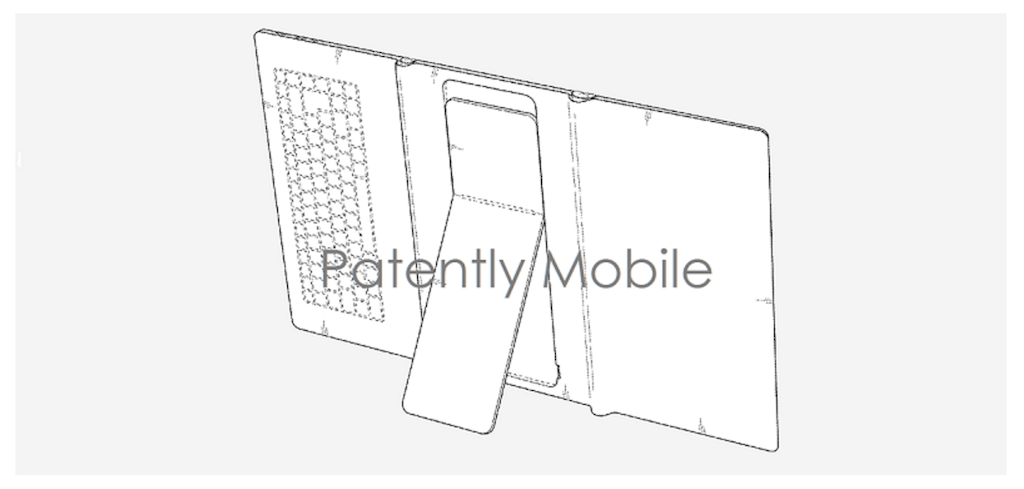 Samsung patents a foldable tablet with built-in keyboard