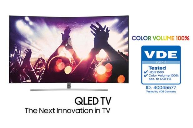 Samsung QLED TV 100 Percent Color Volume VDE Certification