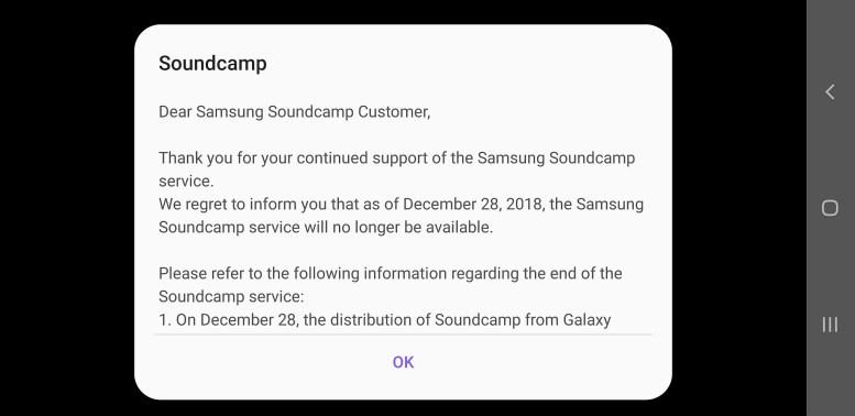 samsung soundcamp discontinuation